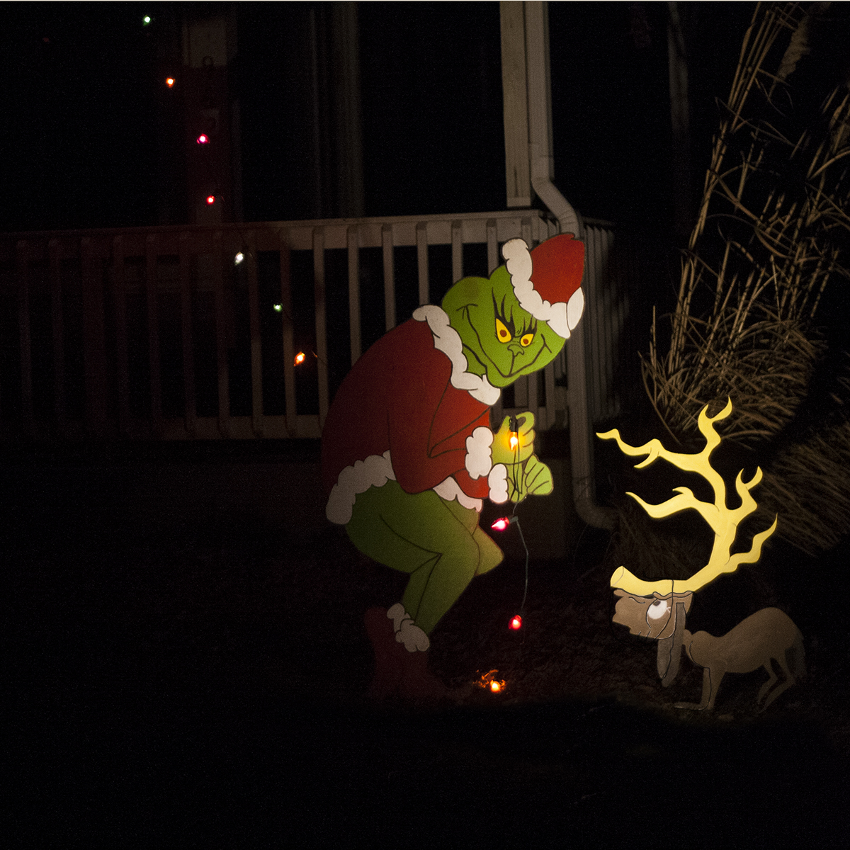 The Grinch S Dog Max Stealing Christmas Lights Wiley Concepts